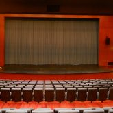 Stage dressings and acoustic solutions manufactured and installed by J&C Joel at The American School of Dubai.