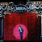 A television audience of 6.1 million tuned in to watch pop sensation Mika perform at the 2008 Brit Awards in front of a fabulous Polyester Trevira reefer curtain supplied by J&C Joel.