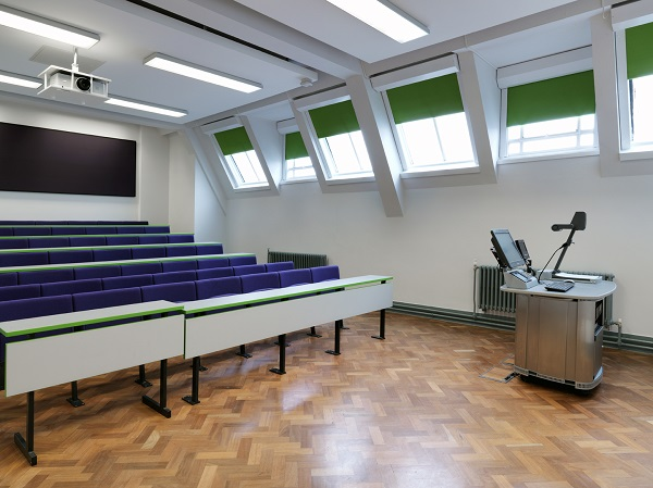 J&C Joel installed 71 motorised acoustic/ blackout blinds at the University of Manchester's city centre campus.